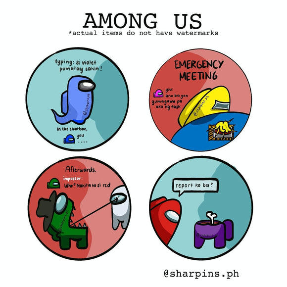Among Us (Mystery Game) | Button Gel Pins