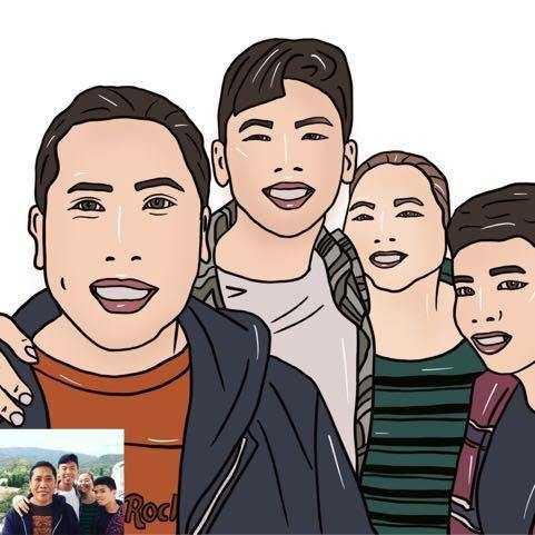 Cartoonized Family Portrait