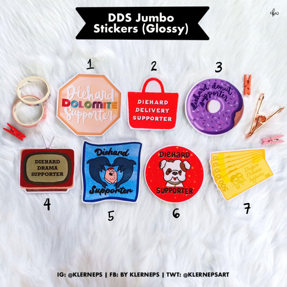 DDS Jumbo Stickers by Klerneps
