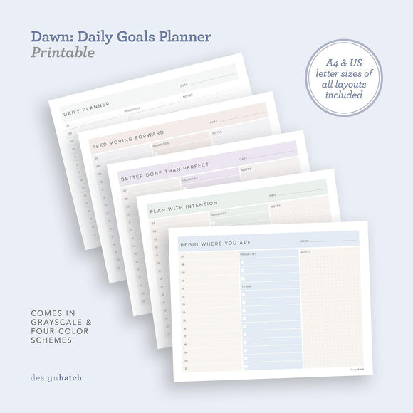 DHA Dawn: Daily Goals Planner