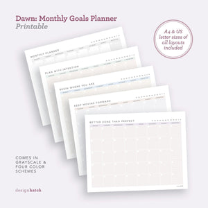 DHA Dawn: Monthly Goals Planner