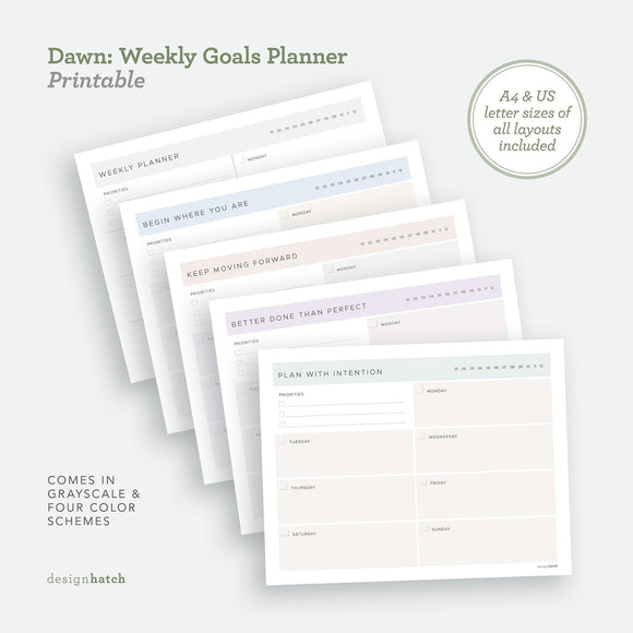 DHA Dawn: Weekly Goals Planner