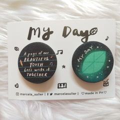 Day6 Glitter Pins by Marcela Suller