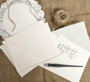 6.5X8.5 Inches Handmade Paper Envelopes (5 Pcs)
