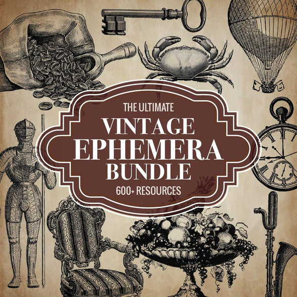Ultimate Vintage Ephemera Bundle Pack
