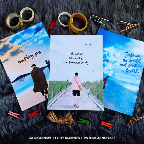 BTS Everythingoes Art Prints by Klerneps