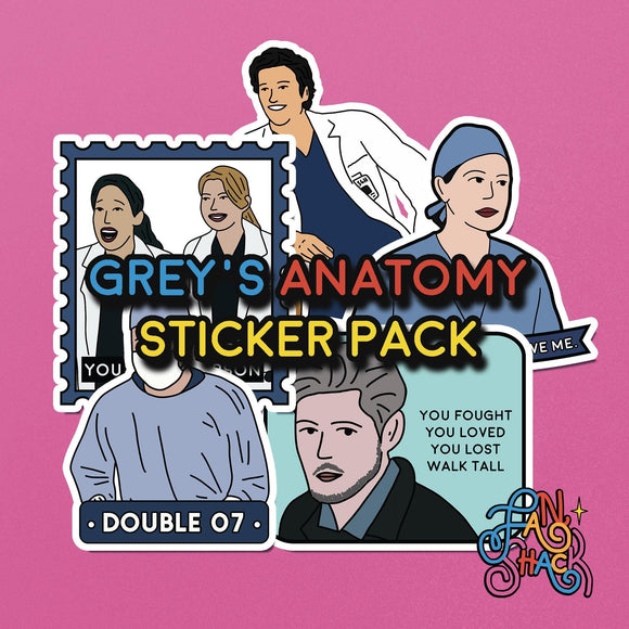 FSH GREY'S ANATOMY Sticker Pack