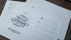 Printable Workbook: Flourish Calligraphy