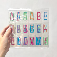 Letters for A4 Lightbox