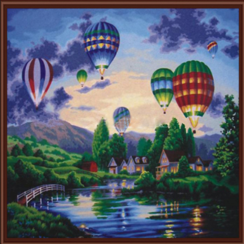 Paint By Numbers Hot Air Baloon G233