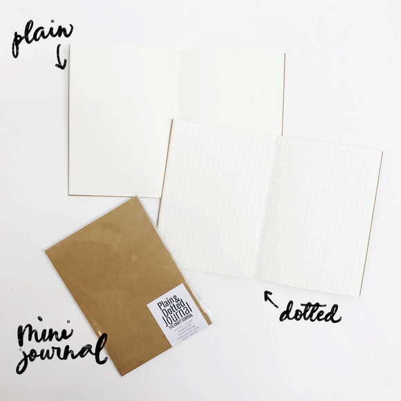 Mini Plain and Dotted Journal FIller