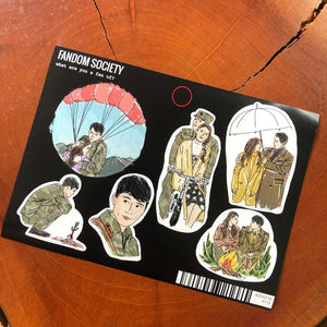 Crash Landing On You Sticker