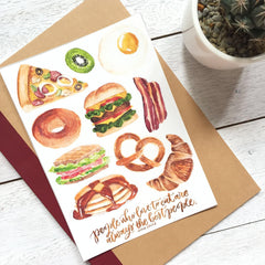 Breakfast Sticker Set