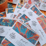Ink Scribbler Linen Coasters