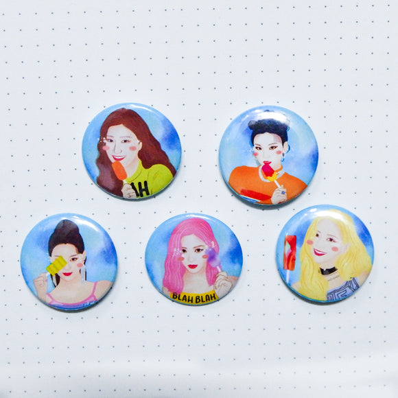 ITZY Button Pins