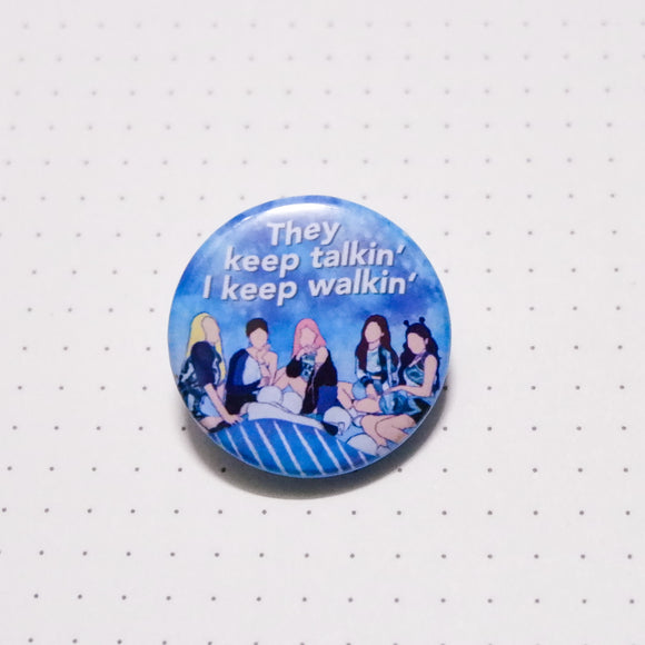 ITZY Icy Button Pin