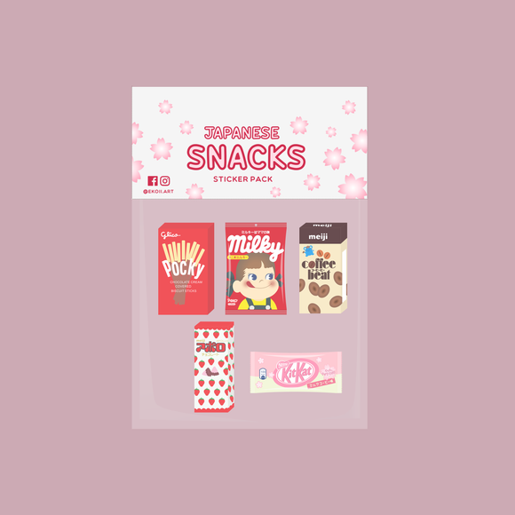 Japanese Snack Sticker Pack by EkoiiArt