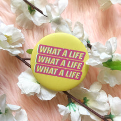EXO-SC What a Life Button Pin by KAJ Designs PH