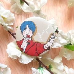 EXO Baekhyun 52mm Glittered Button Pin  by KAJ Designs PH