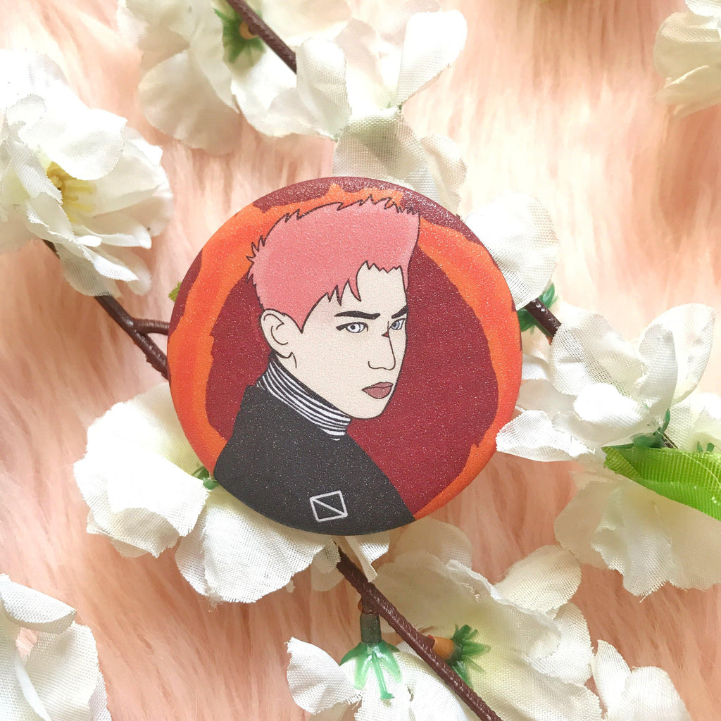 EXO Chanyeol 52mm Glittered Button Pin by KAJ Designs PH