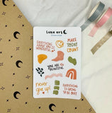 LUNA ART Abstract Sticker Sheet