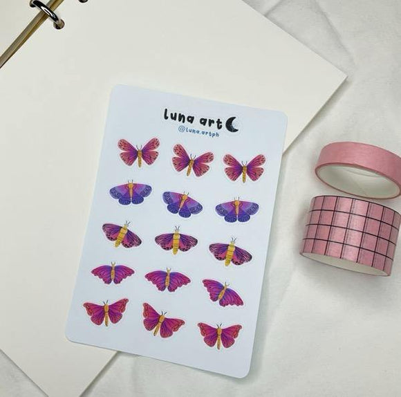 LUNA ART Mariposa Sticker Sheet