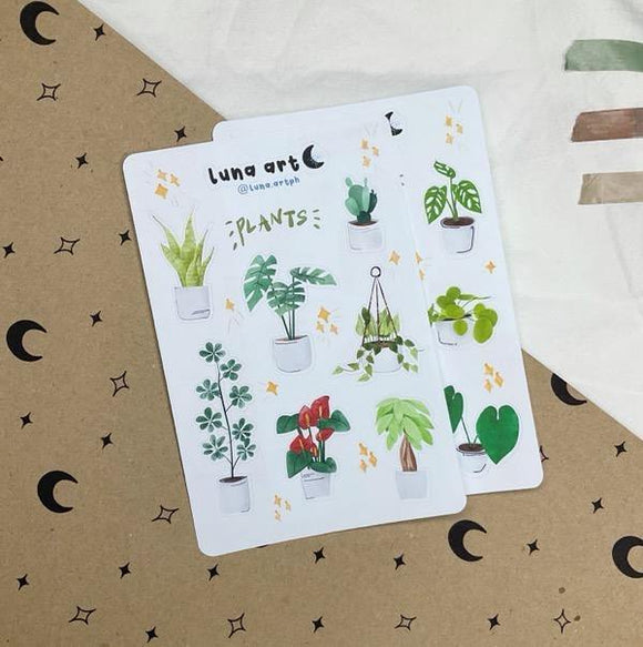 LUNA ART Plants Sticker Sheet
