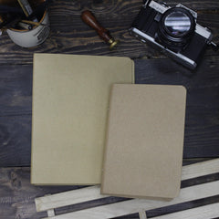 A6 Kraft Spiral Notebook Leaf Binder with 2 Fillers