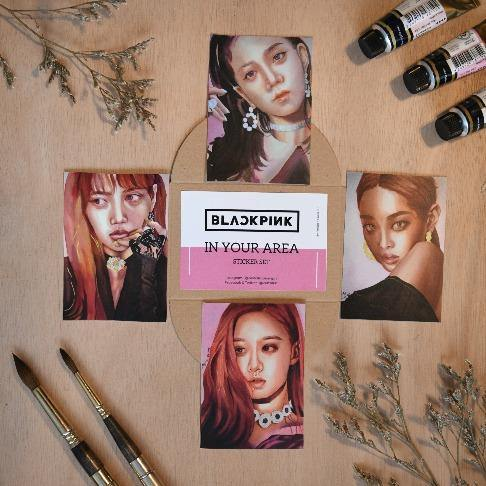 Black Pink Sticker Set - The Craft Central