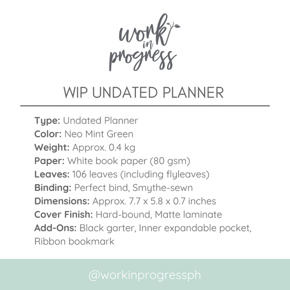 Work In Progress PH Planner and Pouch