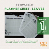 Printable Planner - Leaves