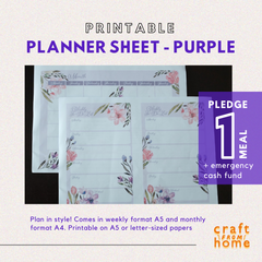 Printable Planner - Purple Florals