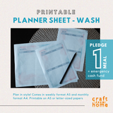 Printable Planner - Watercolor Wash