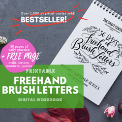 Printable Workbook: Freehand Brush