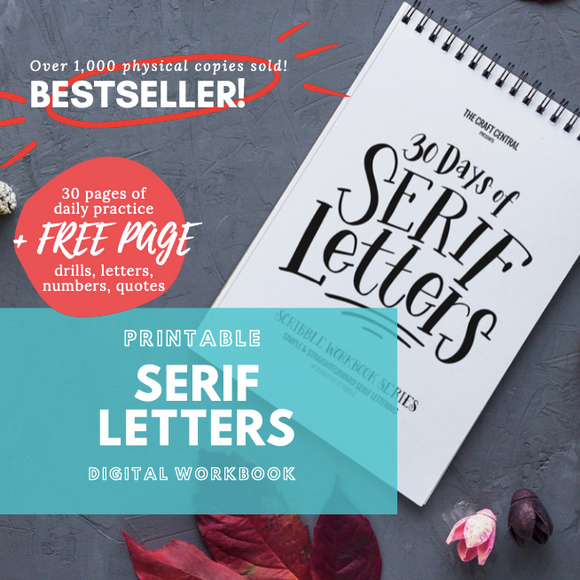 Printable Workbook: Serif Letters