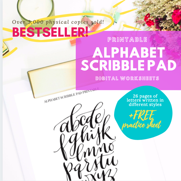 Alphabet Scribble Pad Printable