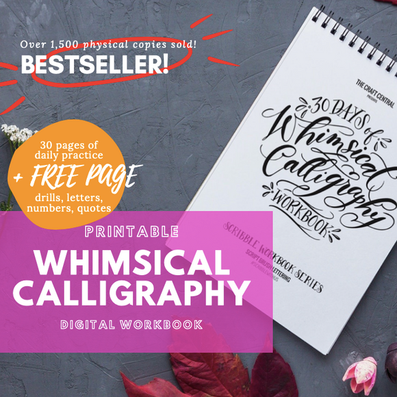 Printable Workbook: Whimsical Calligraphy