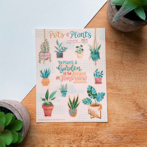 Pots and Plants Stickers