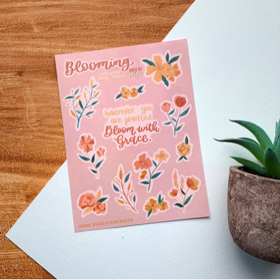 Blooming Stickers