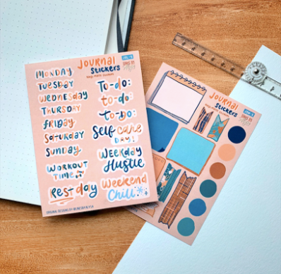 Premium Vinyl Journaling Stickers - The Craft Central