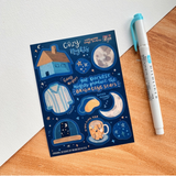 Bright Mornings, Cozy Nights Vinyl Stickers - The Craft Central
