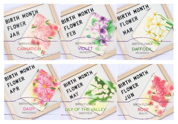 Birth Flower Canvas Pouch