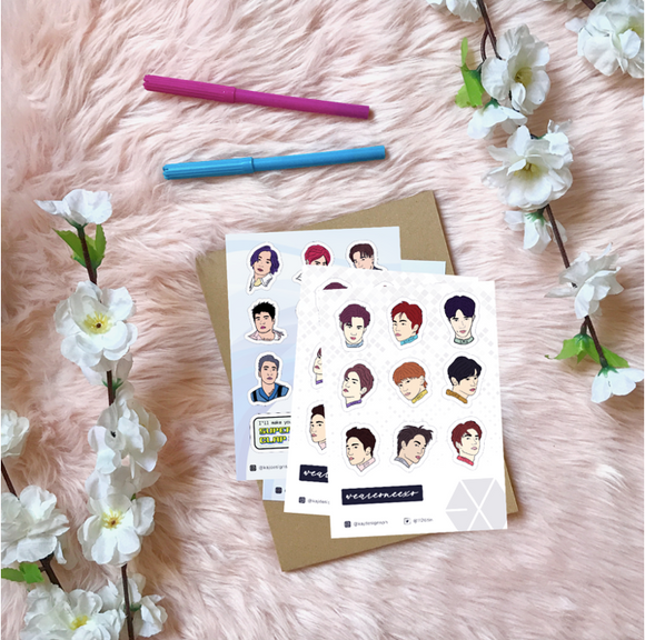 KPOP Vinyl Sticker Sheet - The Craft Central