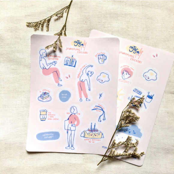 Journaling Transparent Stickers