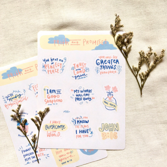 Faith and Promises Sticker Sheets - The Craft Central