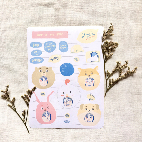 Day6 Mochi Sticker Sheet