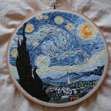 Van Gogh Embroidery Kit