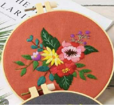 Flowers Embroidery Kit - The Craft Central