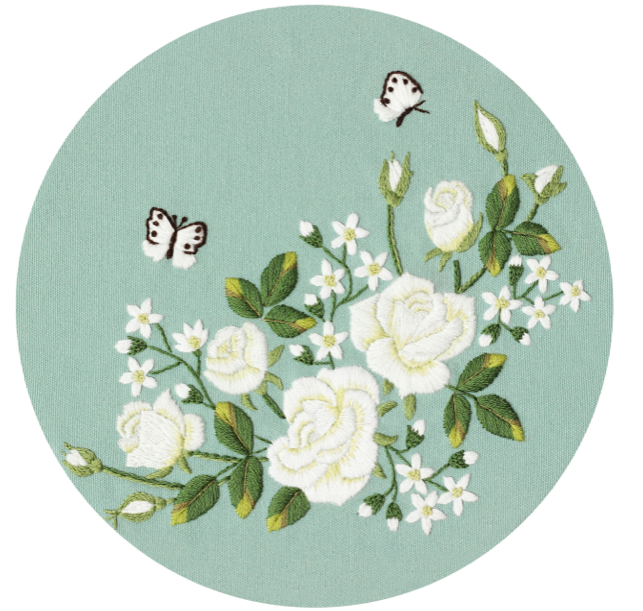 Flutter Floral Embroidery Kit - The Craft Central