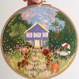 Houses Embroidery Kit - The Craft Central